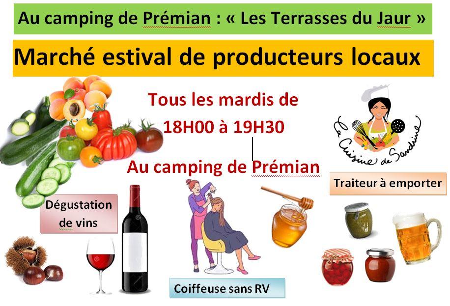 Venez découvrir les spécialités locales au marché de producteurs du camping